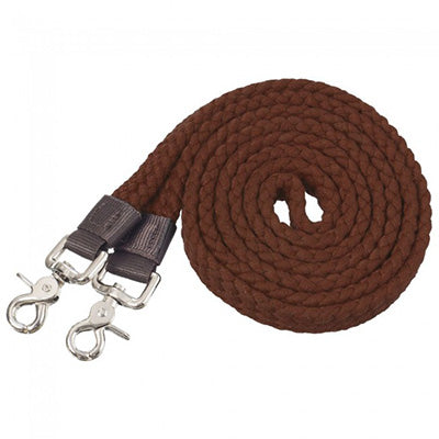 Tough 1 Brown Cotton Roping Reins