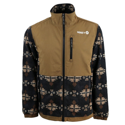 Brown and Tan Aztec Fleece Hooey Jacket