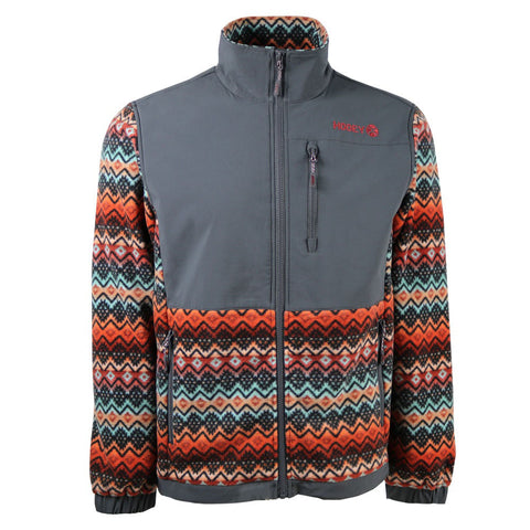 Charcoal and Serape Fleece Hooey Jacket