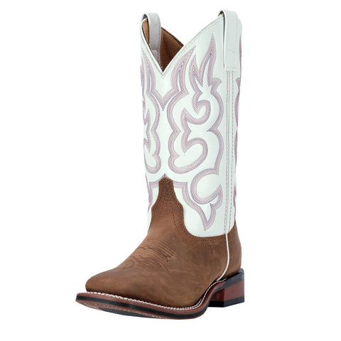 Dan Post Women's White Mesquite Square Toe Boot