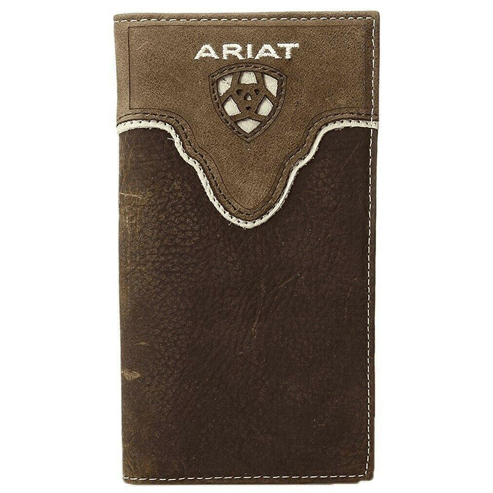 Ariat Distressed Brown Shield Inlay Rodeo Bi-Fold