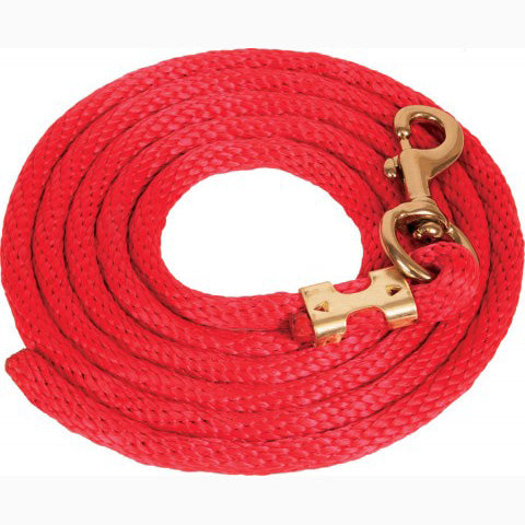 Mustang Red 9' Poly Lead Rope
