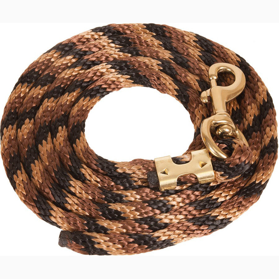 Mustang Black Brown and Tan 9' Poly Lead Rope