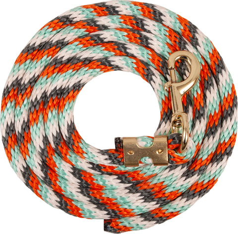 Mustang Poly Lead Rope Orange/Grey/Turquoise