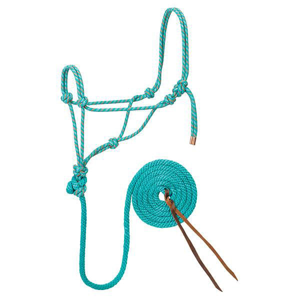 Weaver Leather Teal and Orange Rope Halter with Lead