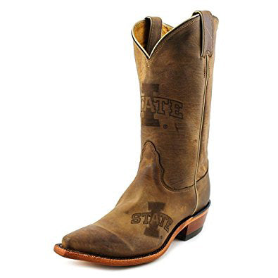 Nocona Women's Brown Branded ISU Snip Toe Boot