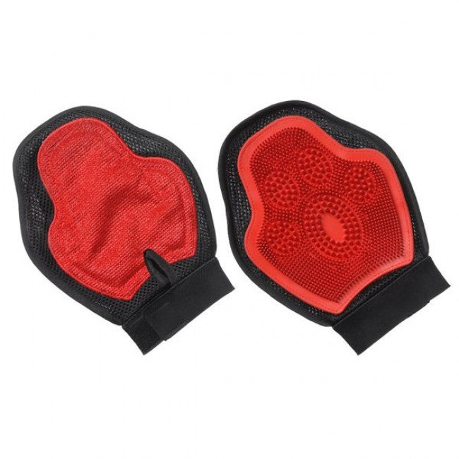 Tough 1 Scrub & Shed Mitt Red/Black