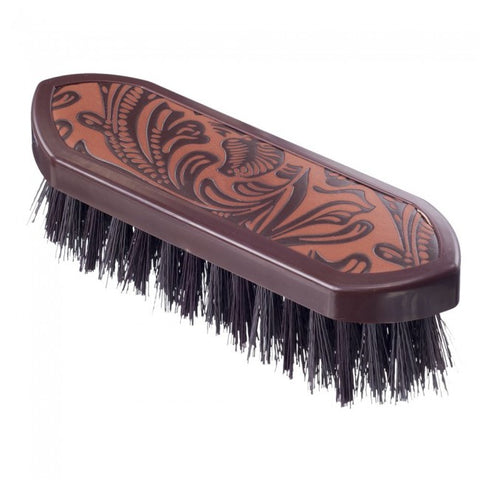 Tooled Leather Brown Dandy Brush
