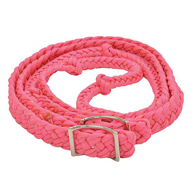 Pink Glitter Braided Barrel Reins