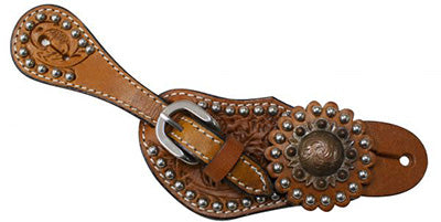 Showman Youth Studded Spur Straps