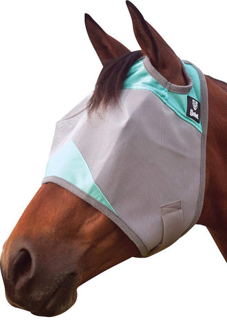 Cashel Mint Patterned Fly Mask without ears