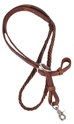 Showman Leather Braided Center Reins