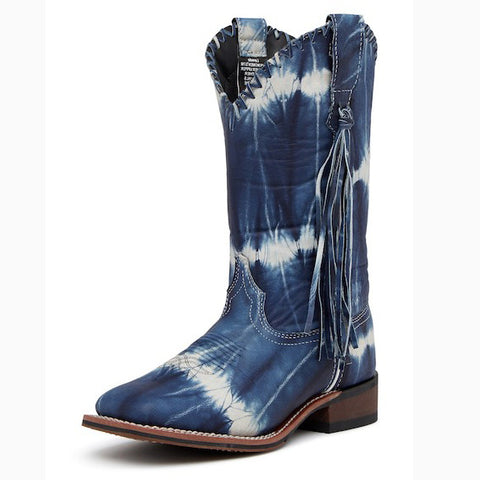 Dan Post Women's Blue Tie Dye Square Toe Boot