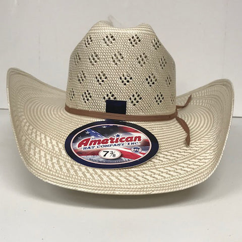American Straw Hat with Diamond Vent