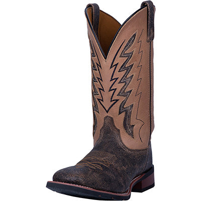 Laredo' Brown and Tan Dalton Square Toe
