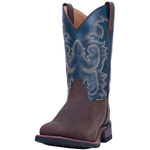Laredo Brown with Blue Top Square Toe Boot