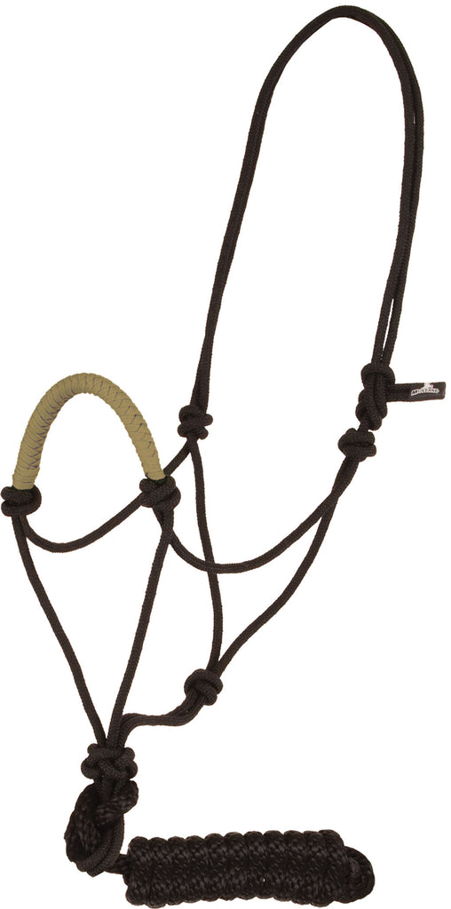 Solid Nose Rope Halter - Tan