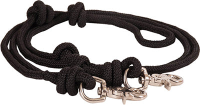 Black Knotted Barrel Reins