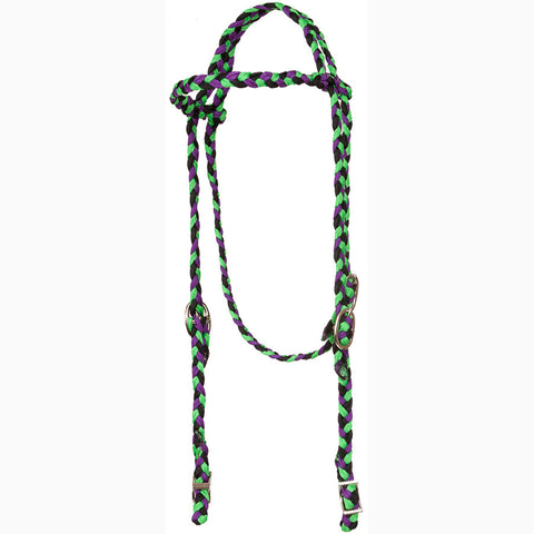 Mustang Purple Black and Lime Browband Headstall