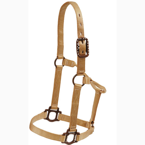 Mustang Tan Antique Dot Halter