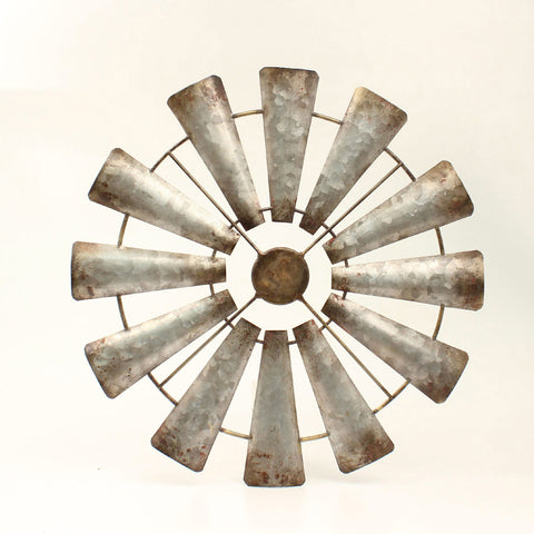 Metal Wind Mill Wall Hanging