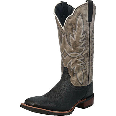 Laredo Men's Isaac Black Embroidered Leather Boots