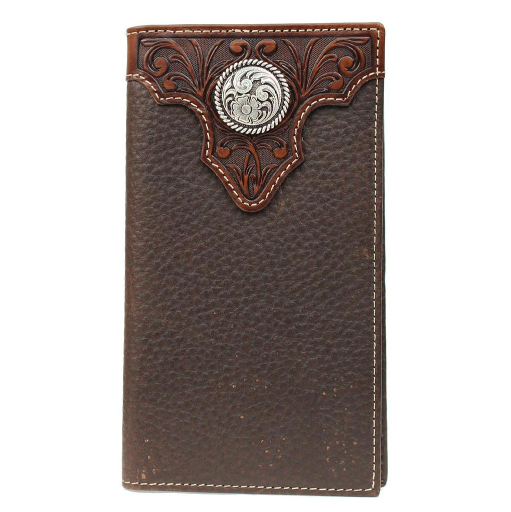 Ariat Chocolate Rodeo Wallet with Silver Concho