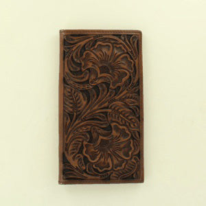 Ariat Brown Embossed Floral Leather Wallet