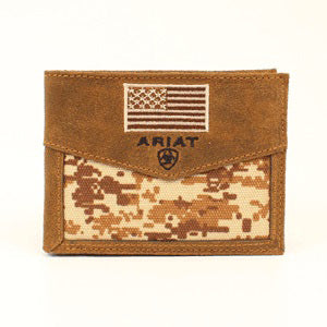 Ariat Digital Camo American Flag Wallet