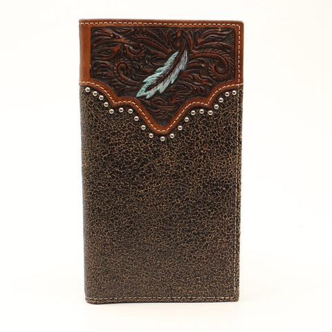 Arait Men's Brown Feather Walllet