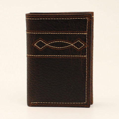 Arait Men's Tri-Fold Boot Stitch Wallet