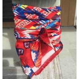 Wyoming Traders Red Blue Aztec Wild Rag