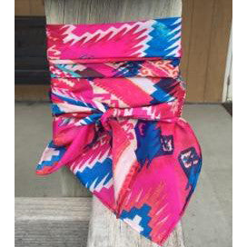 Wyoming Traders Pink Blue Aztec Wild Rag