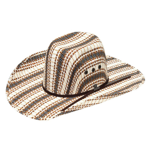 Ariat Brown, Black and Ivory Straw Hat