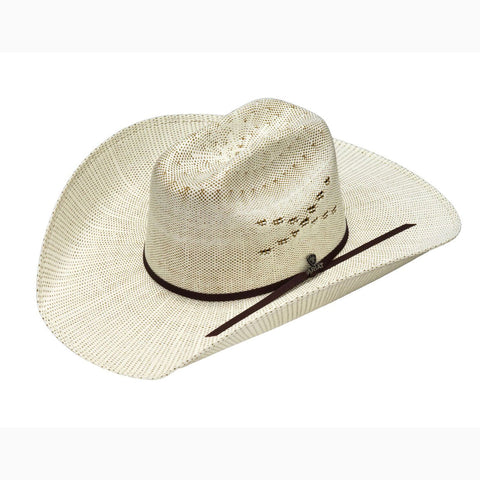 590d56d602342 Ariat Ivory and Brown Bangora Straw Hat