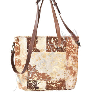 American Darling Brown Hide with Acid Patch Purse