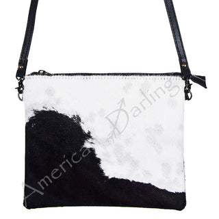 American Darling Black and White Hide Crossbody