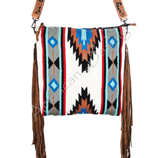 American Darling Aztec Blanket with Fringe Crossbody