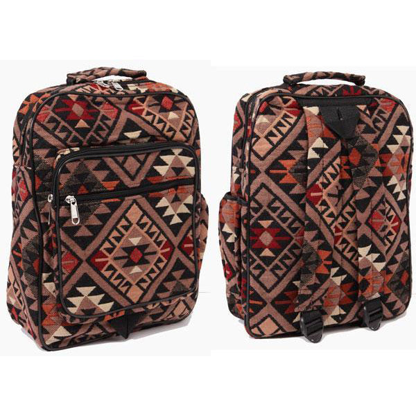 Tan Aztec Backpack