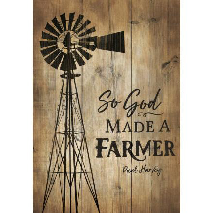 """GOD MADE FARMER"" Mini Wooden Sign"