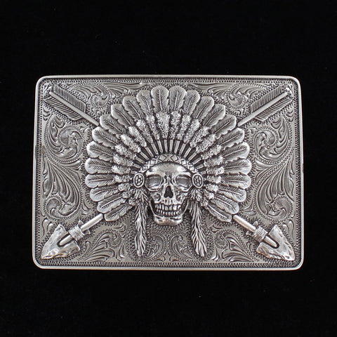 Ariat Chief Skull Belt Buckle