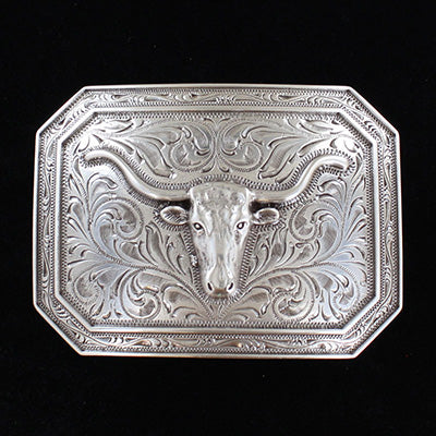 Ariat Rectangle Longhorn Buckle