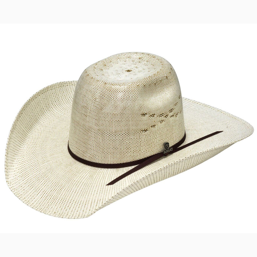 0f7845841872d Ariat Ivory and Brown Punchy Bangora Straw Hat – Western Edge