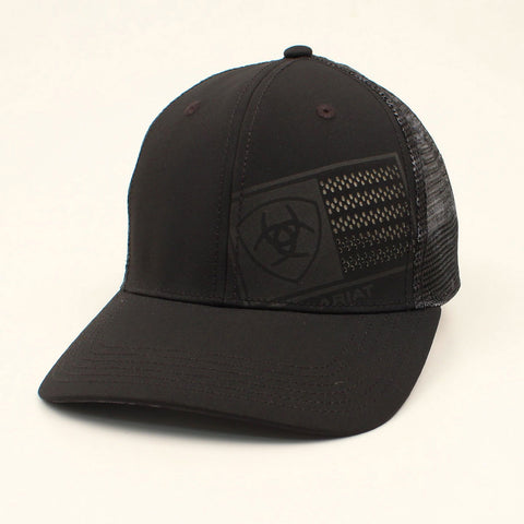 Ariat Black Laser Flag Cap