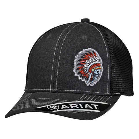 Ariat Black/Chief Skull Cap