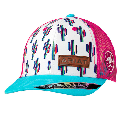 Ariat Girl's Multi Colored Cactus Cap
