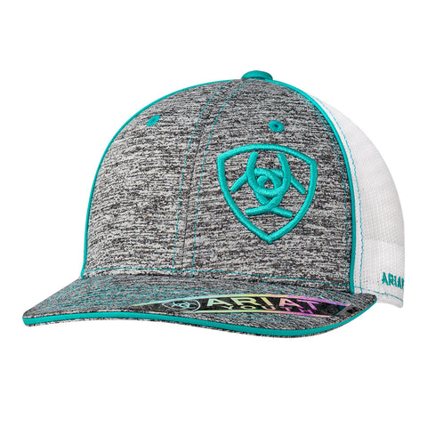 Ariat Youth Heather/Turquoise Snap Back Cap