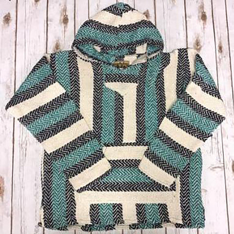 Teal Cotton Pullover Baja