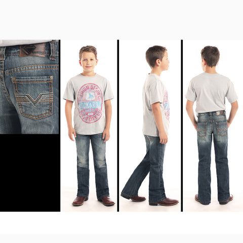 Rock & Roll Cowboy Medium Distressed Regular Fit Jean
