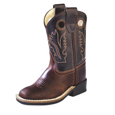 Old West Brown and Chocolate Toddler Cowboy Boots